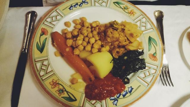 Verduras y garbanzos