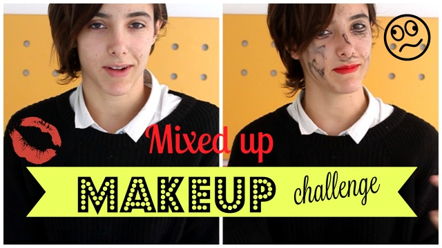 collage makeup challenge mixed up blog trendy fashion moda maquillaje reto 2
