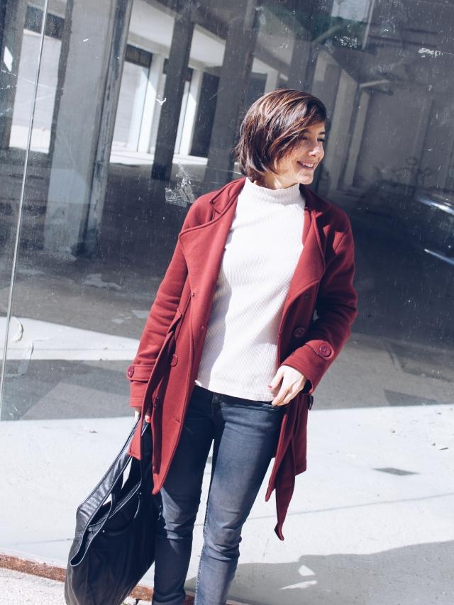 abrigo rojo trendy two blog blogger fashion girl twins moda gemela gemelas carmen marta low cost