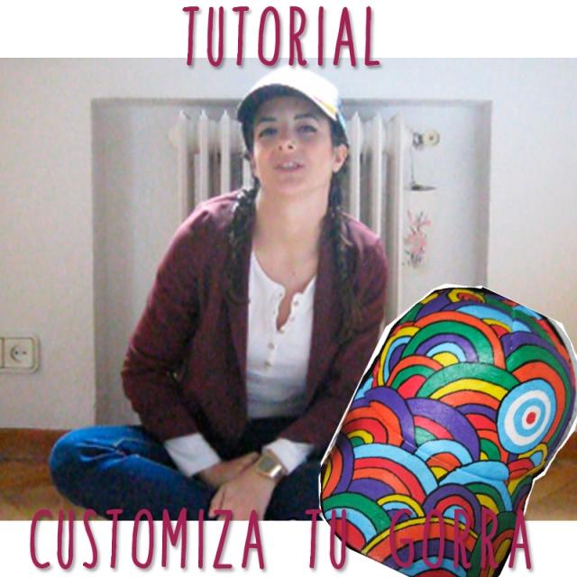 tutorial pintar customizar gorra vídeo blogger youtuber