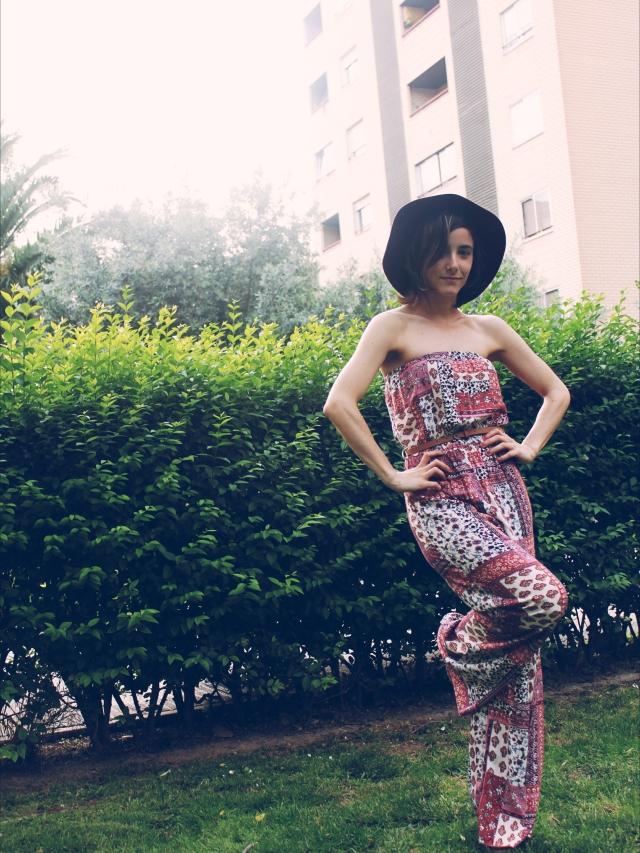 blog blogger mono jumpsuit sombrero burdeos verano trendy two blog blogger fashion moda