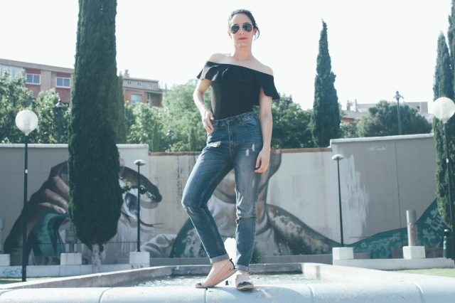 blog blogger volante negro bershka trendy tendencia two girls gemelas carmen marta moda